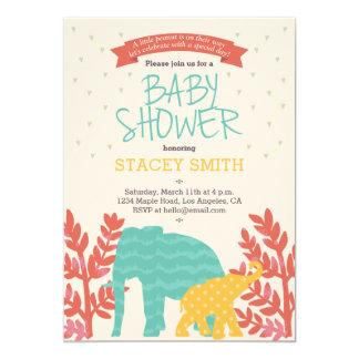 Little Peanut Elephant Baby Shower Invitation