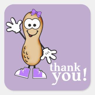Little Peanut (Purple) Thank You Sticker