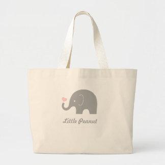 Little Peanut Tote Bag, pink heart Jumbo Tote Bag