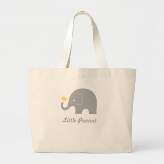 Little Peanut Tote Bag, yellow heart Jumbo Tote Bag