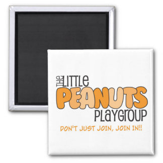 Little Peanuts Square Magnet