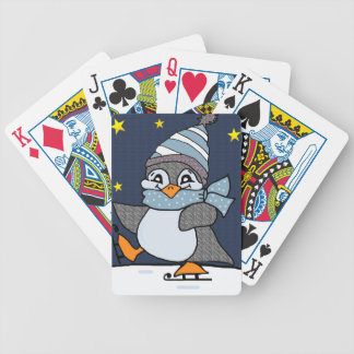Little Penguin Bicycle Playing Cards