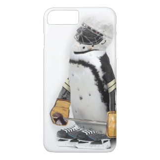 Little Penguin Wearing Hockey Gear iPhone 8 Plus/7 Plus Case