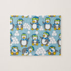 Little penguins background jigsaw puzzle