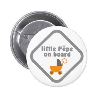 Little Pepe (Maori baby) on board 2 Inch Round Button