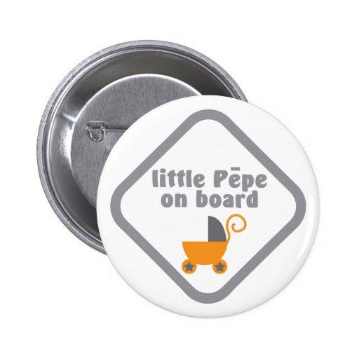 Little Pepe (Maori baby) on board Buttons