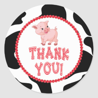 Little Pig Thank You Sticker