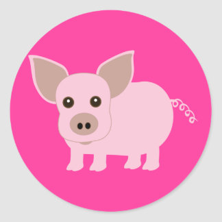 Little Piggie Classic Round Sticker