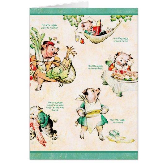 Little Piggies Card