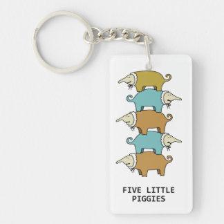 Little Piggies Keychain