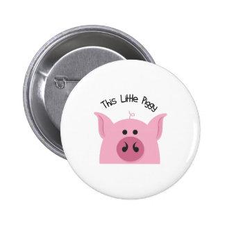 Little Piggy 2 Inch Round Button
