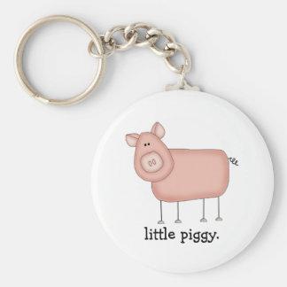 Little Piggy. Basic Round Button Keychain