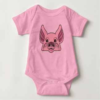 Little Piggy, Big Pig Baby Bodysuit