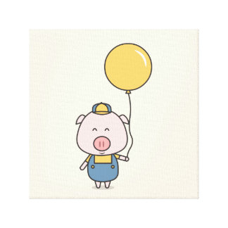 Little Piggy Canvas Print