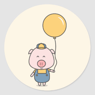 Little Piggy Classic Round Sticker