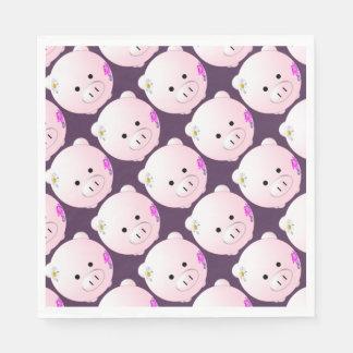 Little piggy disposable napkins