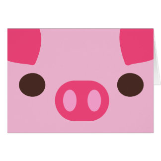 Little Piggy Note Card