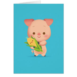 Little Piggy Notecard