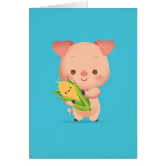 Little Piggy Notecard