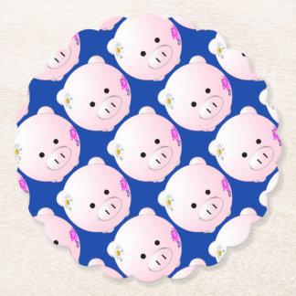 Little piggy paper coaster
