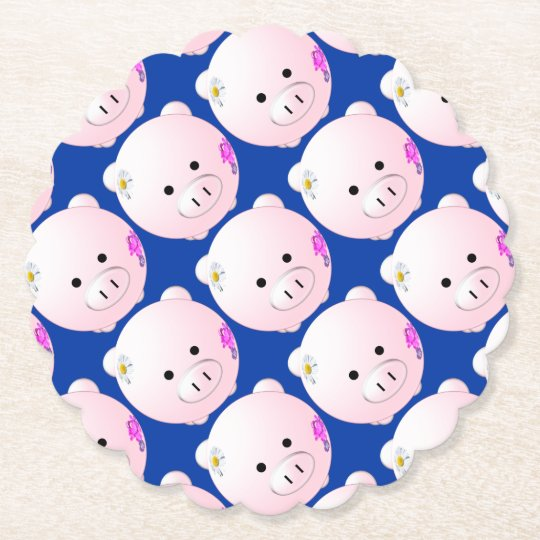 Little piggy paper coaster