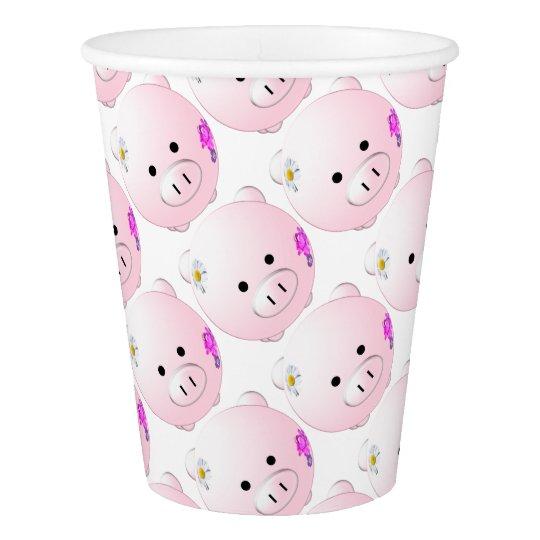 Little piggy paper cup