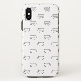 Little Piggy Paperclip Pattern | Cute Animal Case-Mate iPhone Case