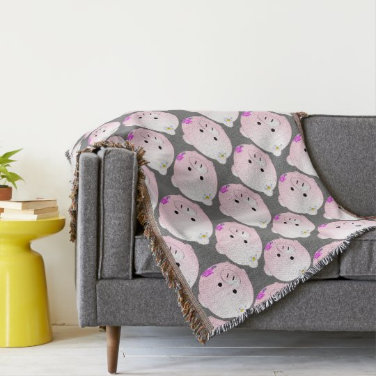 Little piggy throw blanket