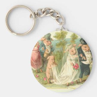 Little Piggy Wedding Keychains