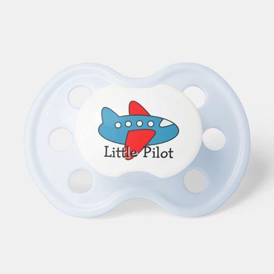 Little pilot toy plane pacifier | aviation theme