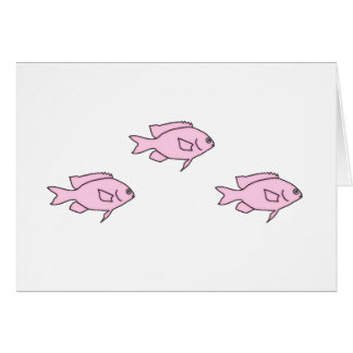 Little Pink Coral Reef Fish Card