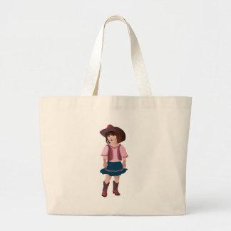 Little Pink Cowgirl Jumbo Tote Bag