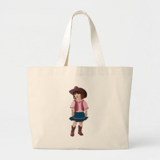 Little Pink Cowgirl Large Tote Bag