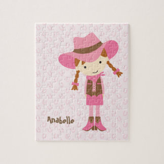 Little Pink Cowgirl {redhead} Jigsaw Puzzle