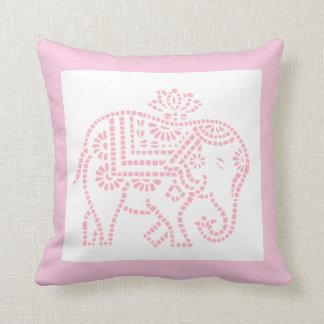 Little Pink Elephant Throw Pillow