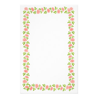 Little Pink English Tea Roses Stationery
