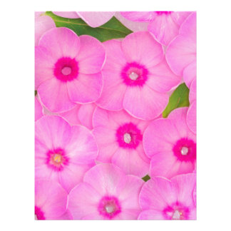 little pink flowers letterhead