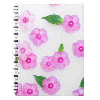 little pink flowers notebooks