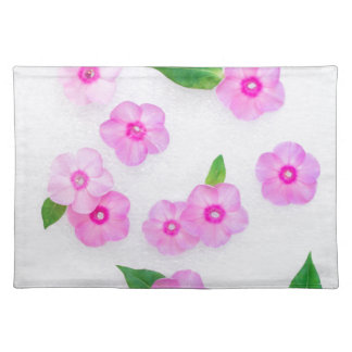 little pink flowers placemat
