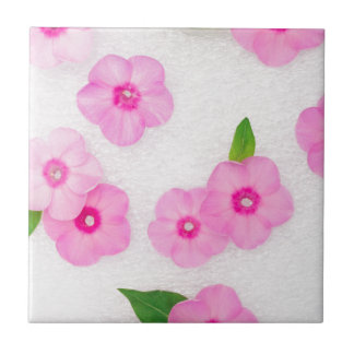 little pink flowers tile