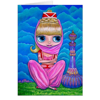 Little Pink Genie Doll with Purple Magic Bottle Card