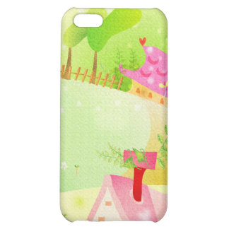 little pink houses cover for iPhone 5C