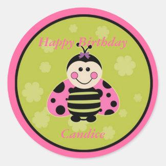 Little Pink Ladybug Sticker