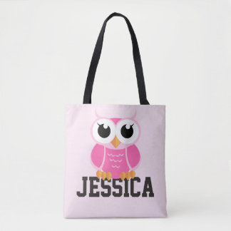 """""""Little Pink Owl"""" Tote Bag"""