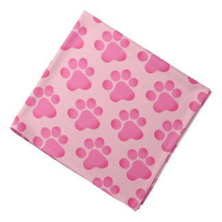 Little Pink Paws Bandana