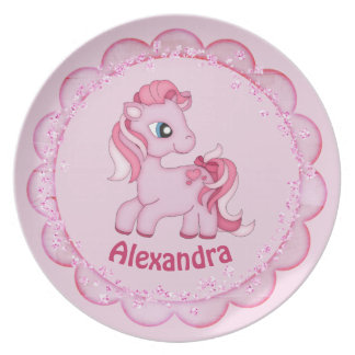Little Pink Pony Child's Plate