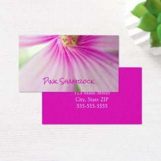 Little Pink Shamrock Flower Photo Florist Business Card