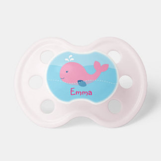 Little Pink Whale Personalized Pacifier