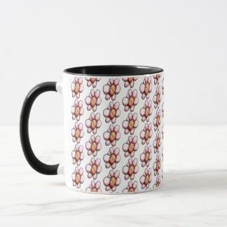 Little Pink Whimsical Flower Mug