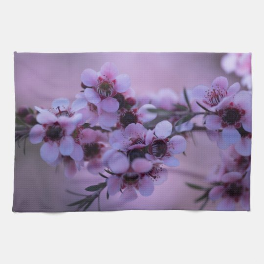 Little Pink White Flowers Manuka Kitchen Towels